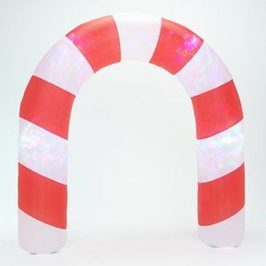 8' Candy Cane Archway Inflatable with Light Show